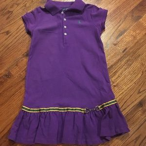 Little Girl's Purple Comfy Ralph Lauren DRESS Sz 6